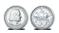 Strieborná minca - Columbus
