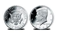 Strieborná minca - J. F. Kennedy