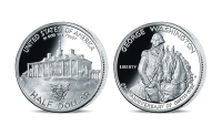 Strieborná minca - G. Washington