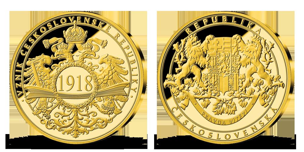História Česko-Slovenska uctená 24-karátovým zlatom