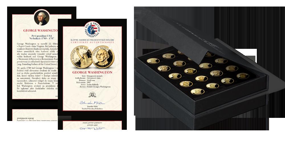 Prezidentské doláre - príslušenstvo