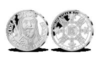 700. výročie narodenia Karola IV., medaila z rýdzeho striebra