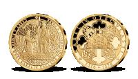 Univerzita Karlova, medaila plátovaná rýdzim zlatom
