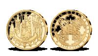 Karlov most, medaila plátovaná rýdzim zlatom