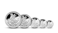 Historicky prvá razba mince Sovereign do rýdzeho striebra