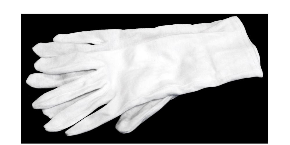 Rukavice v bielej farbe