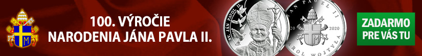 Pamätná medaila pre každého ZADARMO - 100. výročie narodenia pápeža Jána Pavla II.