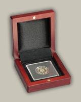Elegantný box na bezpečné uchovanie numizmatu
