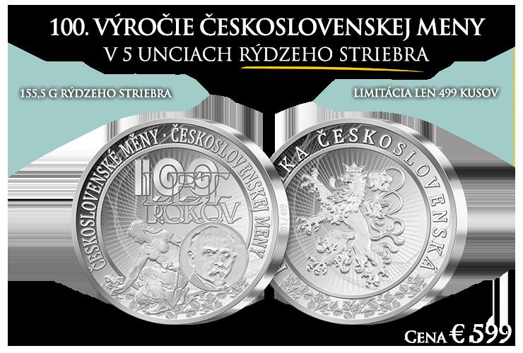 100. výročie vzniku československej meny