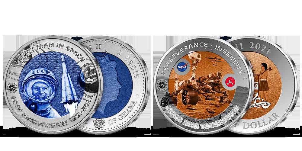 60 rokov dobývania vesmíru - set 2 titánových micní