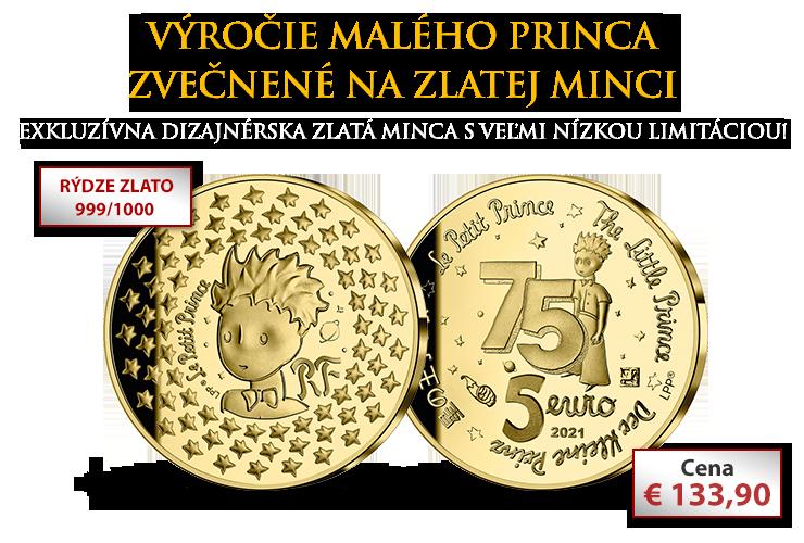Výročie Malého princa zvečnené na zlatej minci