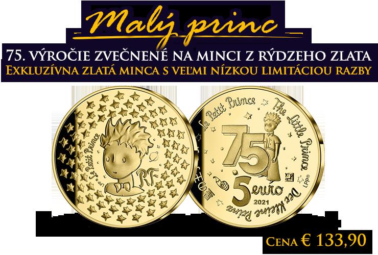 Výročie Malého princa zvečnené v zlate