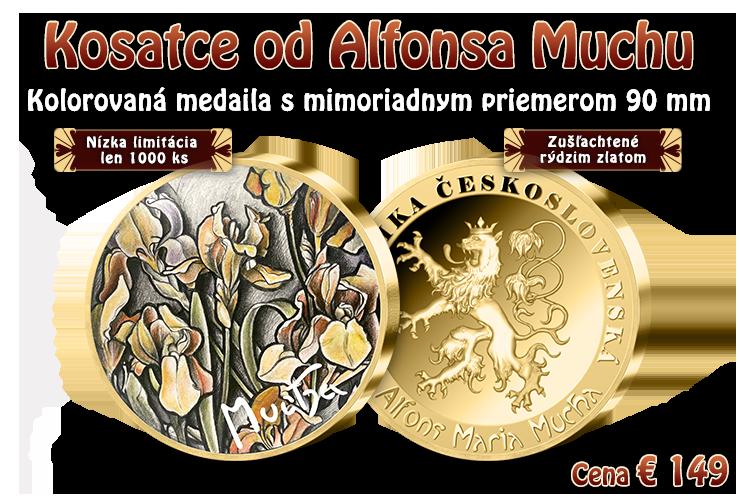 Kosatce od Alfonsa Muchy na emisii v mimoriadnej veľkosti