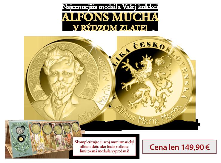 Alfons Mucha v 24-karátovom zlate!