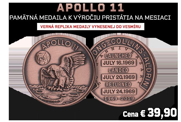 Verná replika medaily vynesenej do vesmíru!