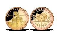 Bojnický zámok Medaila zušľachtená ružovým a žltým zlatom