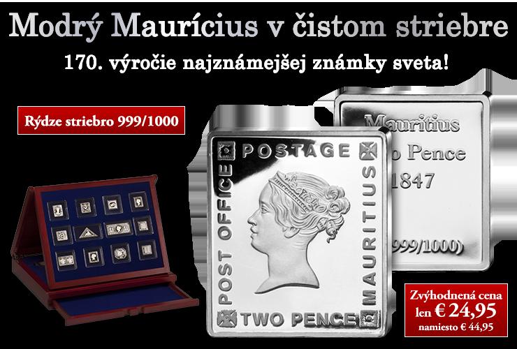 Modrý Maurícius v čistom striebre -  najznámejšia známka sveta!