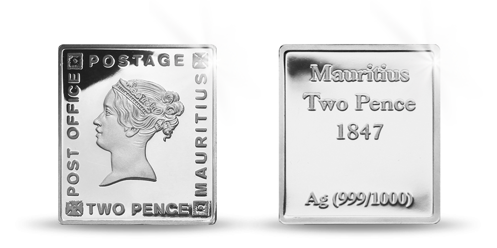 Strieborné známky - Mauritius