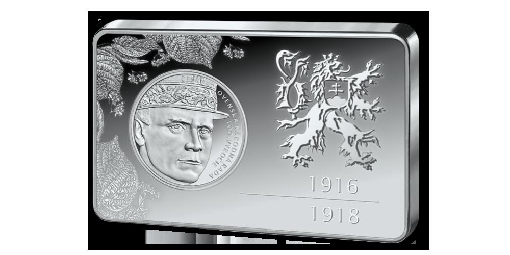 Strieborná tehlička 100. výročie vzniku Československej národnej rady