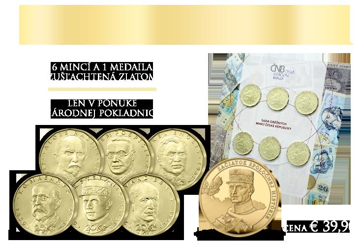Sada Českej národnej banky & pamätná medaila