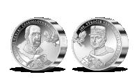 100. výročie vzniku Česko-Slovenska na medaile z 1 kg striebra