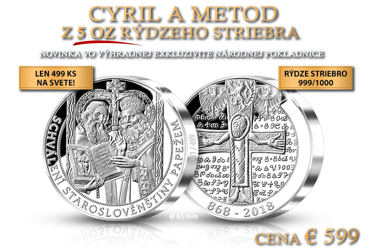 Cyril a Metod v 5 unciach rýdzeho striebra
