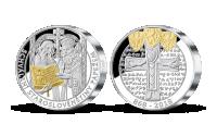 Pamätná medaila Cyril a Metod v 2 oz rýdzeho striebra