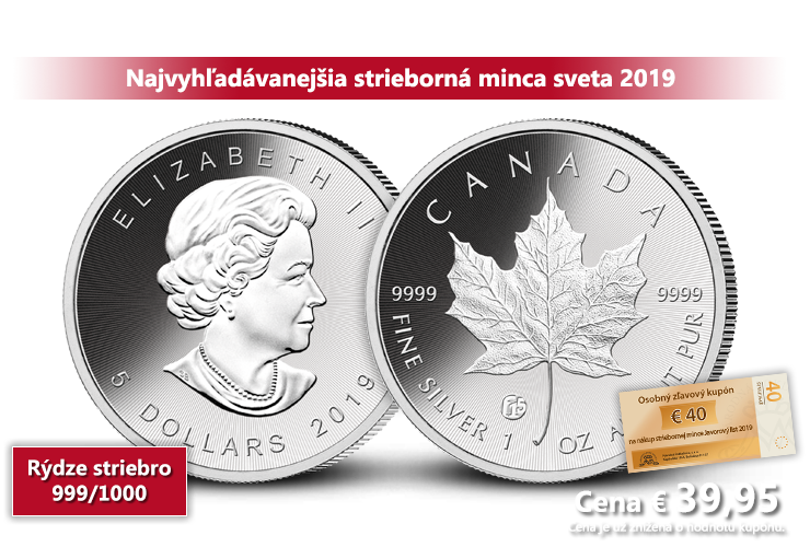 Javorový list 2019 - Legenda numizmatiky z rýdzeho striebra