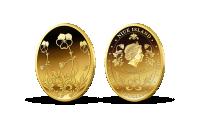 Fabergého vajce - zlatá minca venovaná legendárnemu šperku