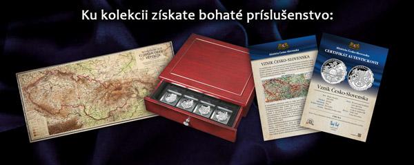 Súčasťou kolekcie História Česko-Slovenska je jedinečné príslušenstvo ZADARMO