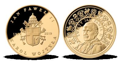 40. výročie návštevy Írska Jánom Pavlom II. 1 uncová zlatá medaila