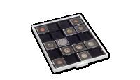 Kazeta na mince MB ve svetle šedej farbe s čierným zásobníkom