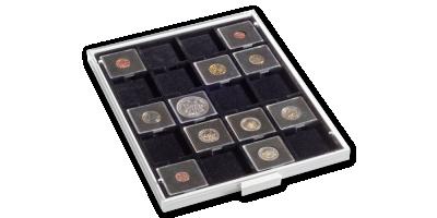 Kazeta na mince MB vo svetlo šedej farbe s čiernym zásobníkom