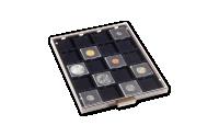 Kazeta na mince MB v tónovanej farbe s čiernym zásobníkom