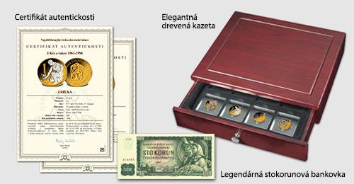 Elegantná drevená kazeta, Certifikát autentickosti a Osvedčenie o vlastníctve zbierky