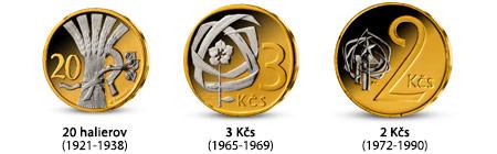 Zaujímavé emisie z kolekcie Najobľúbenejšie česko-slovenské mince