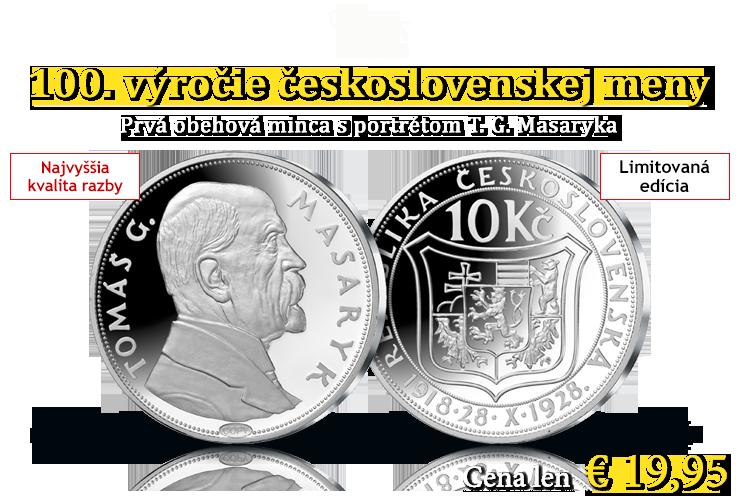 100 výročie československej meny