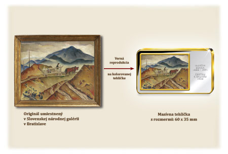 Reprodukcia obrazu Cestou k salašu na kolorovanú tehličku
