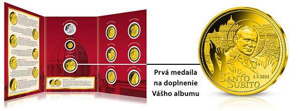 Album a prvá medaila Ján Pavol II.