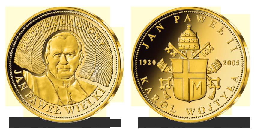 Pozlátená pamätná medaila Ján Pavol II.
