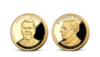 Prezidentské doláre R. Reagan a W. Wilson