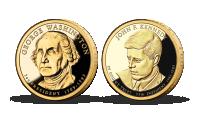 Kolekcia originálnych dolárových mincí zušľachtených rýdzom zlatom