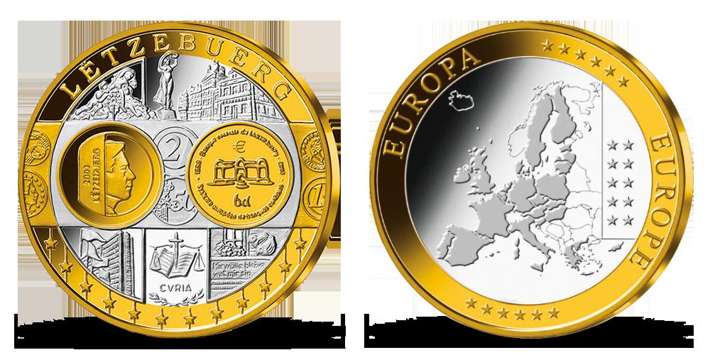 Pamätná medaila Luxembursko z kolekcie Prvá spoločná európska mena