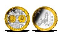 Pamätná medaila Monako z kolekcie Prvá spoločná európska mena