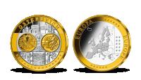 Pamätná medaila Rakúsko z kolekcie Prvá spoločná európska mena