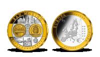 Pamätná medaila San Marino z kolekcie Prvá spoločná európska mena