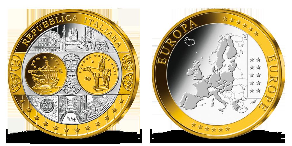 Pamätná medaila Taliansko z kolekcie Prvá spoločná európska mena