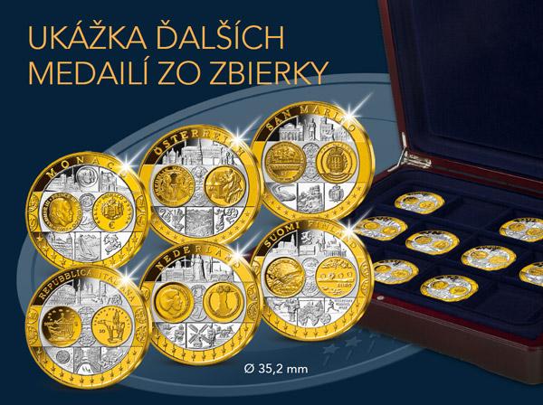 Ukázka ďalších medailí zo zbierky