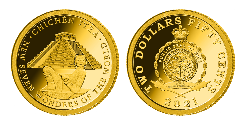 Zlatá minca Chichen Itza