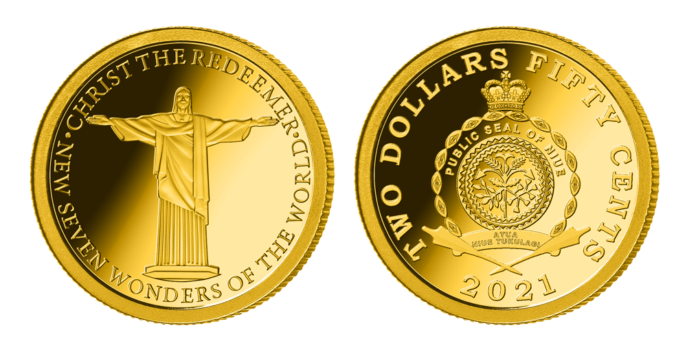 Zlatá minca Kristus Spasiteľ
